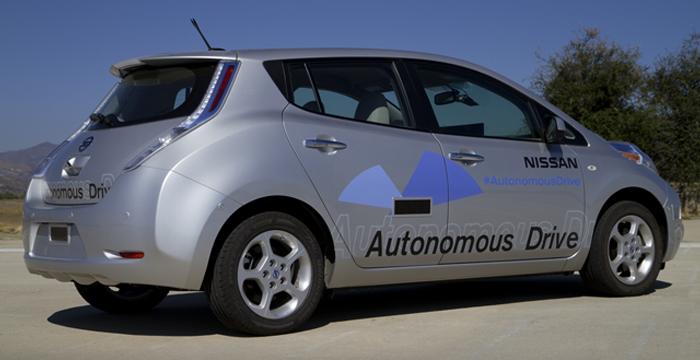 Nissan's autonomous vehicle