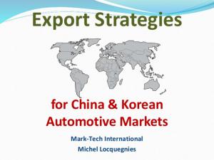 Hesse - Export Strategies China Korea