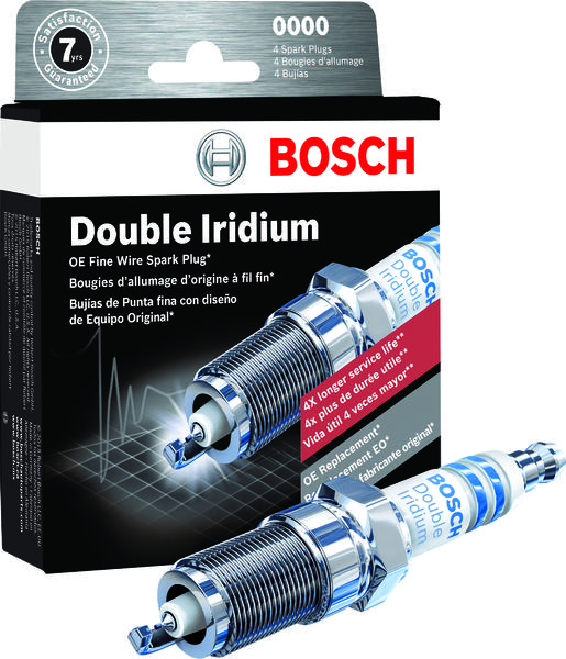 Up to 4X Longer Life Bosch 9697 Double Iridium Spark Plug Pack of 4