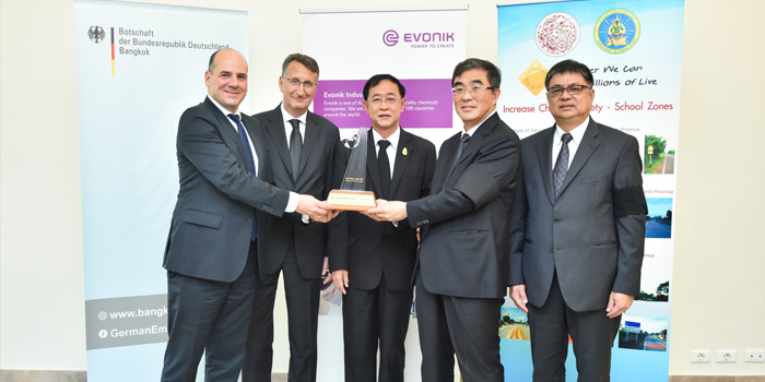 Evonik Presents Its 1st Evonik Road Safety Award In Thailand