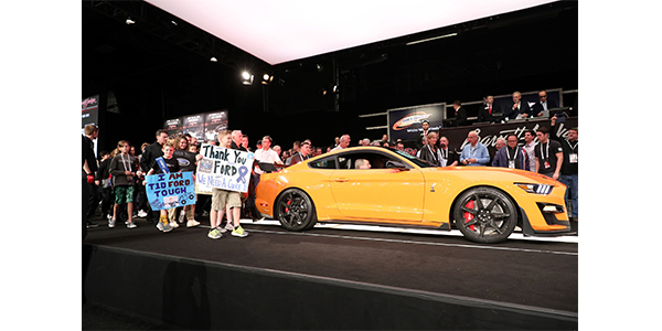 The most recent Barrett-Jackson collector car auction raised $9.6 million for charity, which includes donations made on the block beyond the hammer prices, and is the largest amount raised at one auction in the company's 48-year history.