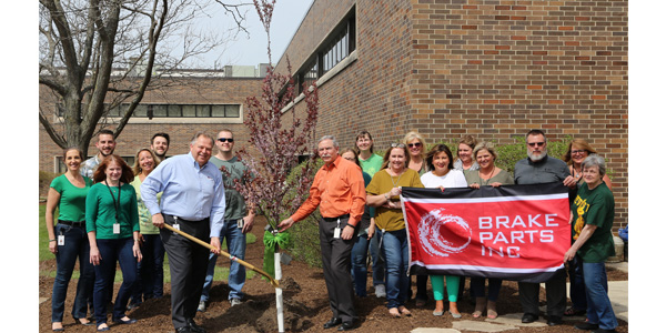 In recognition of Earth Day, Brake Parts Inc continued its tradition of planting a new tree at its world headquarters in McHenry, Illinois, to serve as a reminder of the beauty of our planet and the need to protect it.