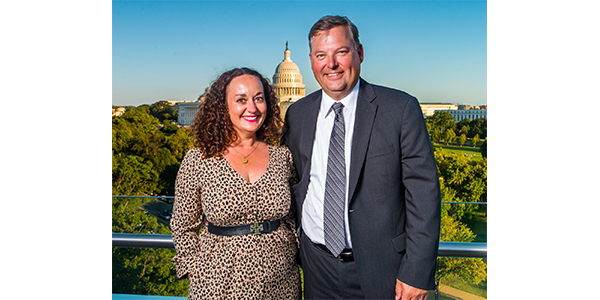Tammy (Women in Auto Care President) and Tom Tecklenburg in DC.