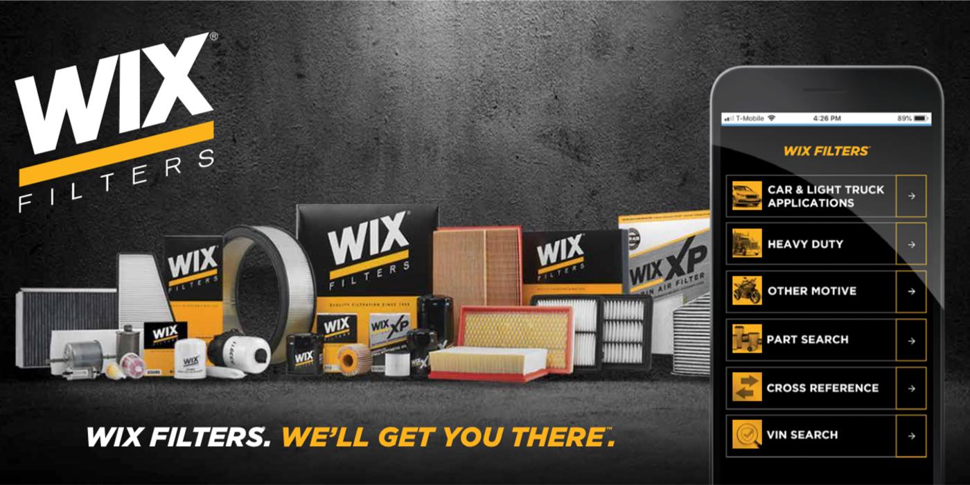 WIX Filters Introduces Mobile Catalog | Wix Fuel Filter Catalog |  | Aftermarket News